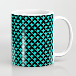 geometric abstract pattern azure and black background illustration Coffee Mug