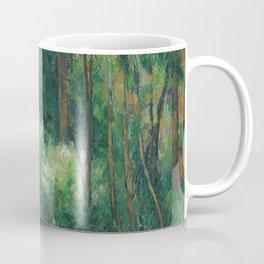 1880 - Paul Cezanne - Interior of a forest Coffee Mug