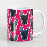 artrave Mugs featuring BATPIG artRAVE Red by Walko
