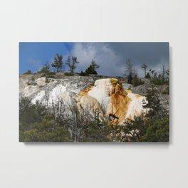 Mammoth Hot Spring Colors Metal Print