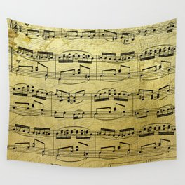 Notes on Gold One Solace Wall Tapestry