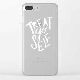 Treat Yo Self: Holiday Edition Clear iPhone Case