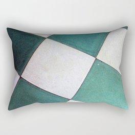 Teal Tiles Rectangular Pillow
