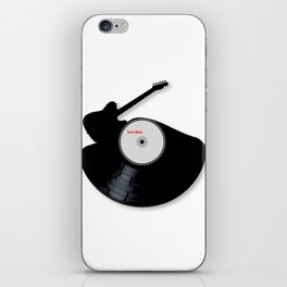 Rock Music Silhouette Record iPhone Skin