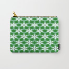 Flowers on Green Carry-All Pouch