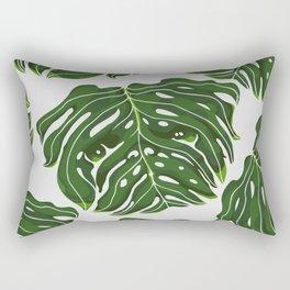 Monstera Pug Rectangular Pillow