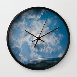 Afternoon Sky with Chicago Cloud Gate Wall Clock