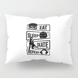 Eat Sleep Skate Repeat - Figure Skating Winter Ice Pillow Sham