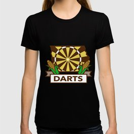 Dart Board Iowa State Map Corn Retro T-shirt