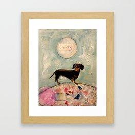 Hank the amazing Doxie Framed Art Print