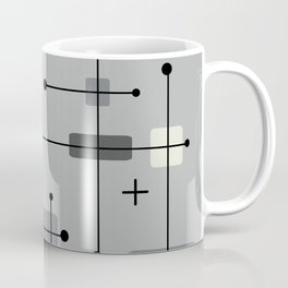 Rounded Rectangles Squares Gray Coffee Mug
