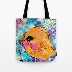 Graffiti bird  Tote Bag