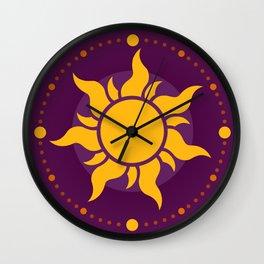 Tangled Rapunzel Sun Logo - Corona Symbol Wall Clock
