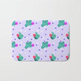 Hello Cactus Lavender Background Bath Mat