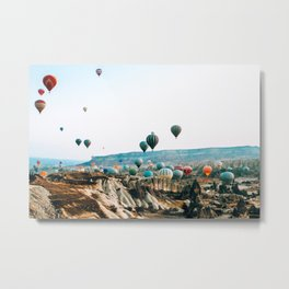 Hot Air Rises | Cappadocia, Turkey Metal Print