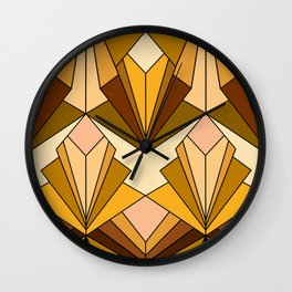 Art Deco meets the 70s - Large Scale Wall Clock
