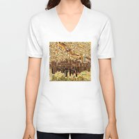 minneapolis V-neck T-shirts featuring minneapolis city skyline by Bekim ART