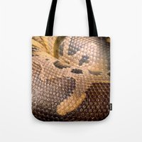 anaconda Tote Bags featuring Anaconda by theGalary
