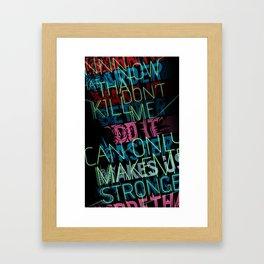 First 23 seconds Framed Art Print