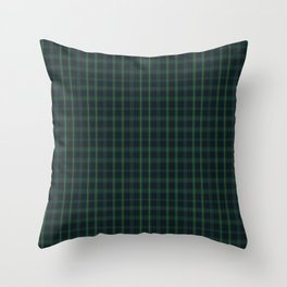 Green and Blue Plaid Throw Pillow