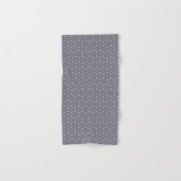 Pantone Lilac Gray and white Polka Dots Circle Pattern Hand & Bath Towel