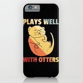 Otter Marten Sweet Vintage Retro iPhone Case