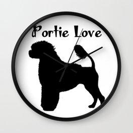 Portuguese Water Dog Portie Love  Wall Clock
