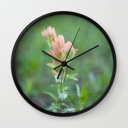Pink Paintbrush Wall Clock