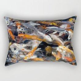 Painted Koi Rectangular Pillow