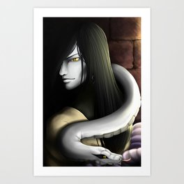And here I am now, a slave to the dark Art Print