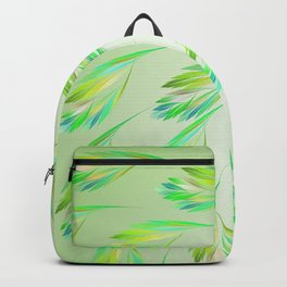 Dancing leaves on lime green Backpack