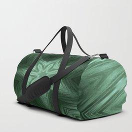 Green Star Flower Blossom Metallic Color #Pattern #Background Duffle Bag