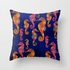 C13D SEAHORSE PATTERN Throw Pillow