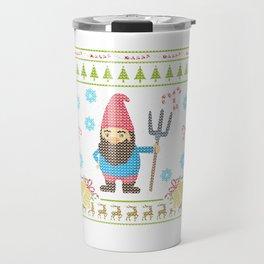 Funny Gnome Christmas Ugly Sweater Sweater Design Shirt Travel Mug