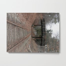 Rusted Tracks Metal Print