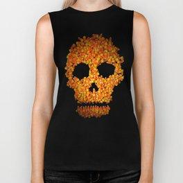 Candy Corn Skull Biker Tank