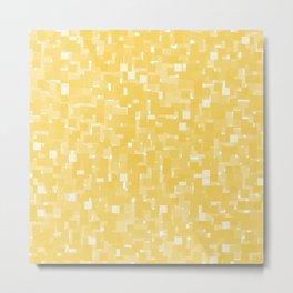 Primrose Yellow Pixels Metal Print
