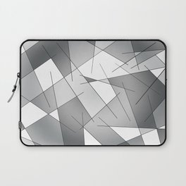 ABSTRACT LINES #1 (Grays & White) Laptop Sleeve