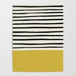 Mustard Yellow & Stripes Poster
