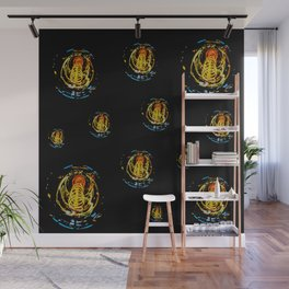 The Electric Current:  Filament Lights Wall Mural