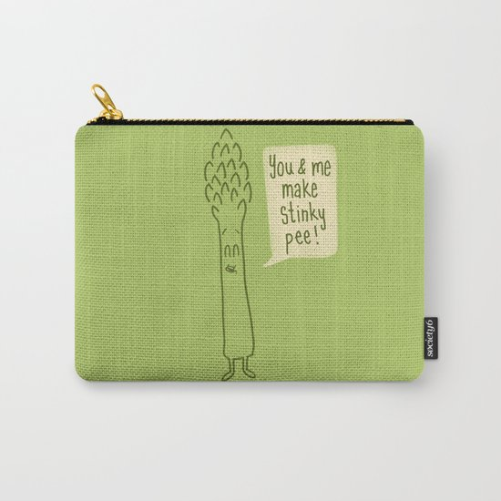 Happy Asparagus  Carry-All Pouch