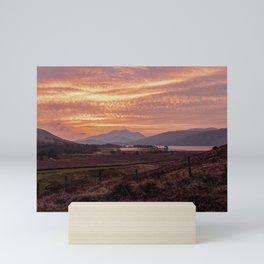 Scotland Ben Nevis mountain at sunrise Mini Art Print