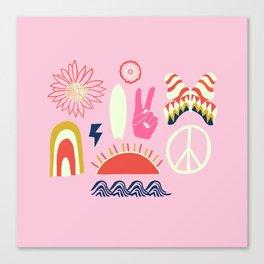 peace + harmony + surf Canvas Print