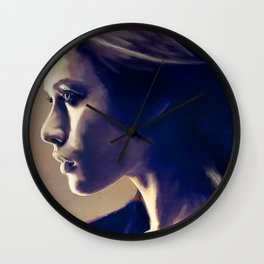 Portrait Of A Young Woman In Profile Wall Clock