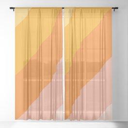 Tropical sunrise gradient Sheer Curtain