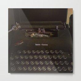 Smith-Corona Typewriter Metal Print