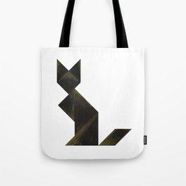 Tangram Black Cat Tote Bag