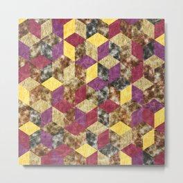 Colorful Isometric Cubes VII Metal Print