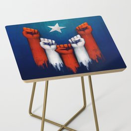 Puerto Rico power of the people Side Table