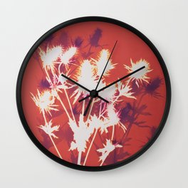 Photogram - Seaholly in Red Wall Clock
